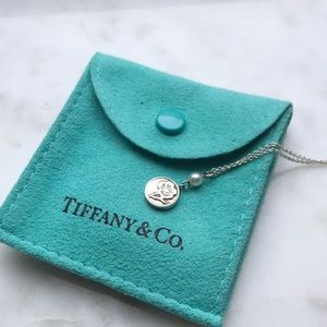 Tiffany & Co. Small Floral Pendant w/ Pearl